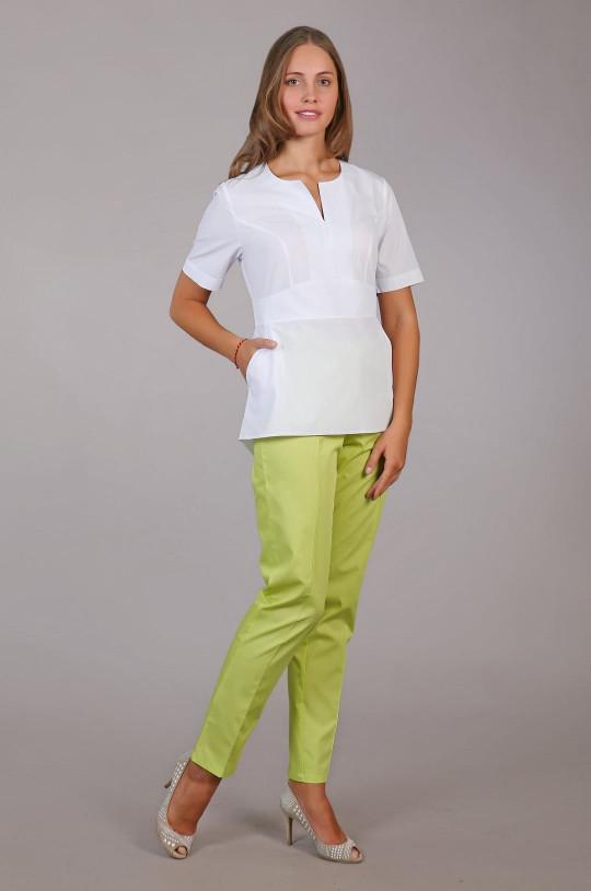 Жакет медицинский женский М-210 (белый, тиси)