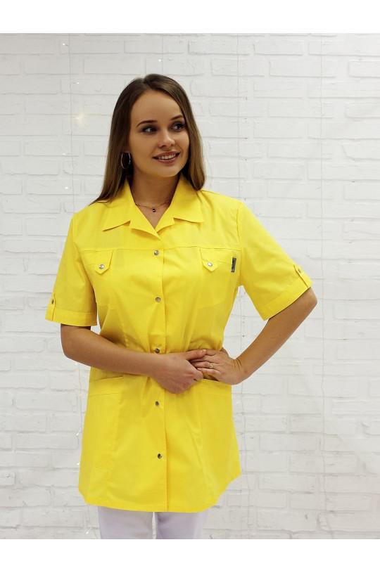 Жакет медицинский женский М-230 (желтый, тиси)