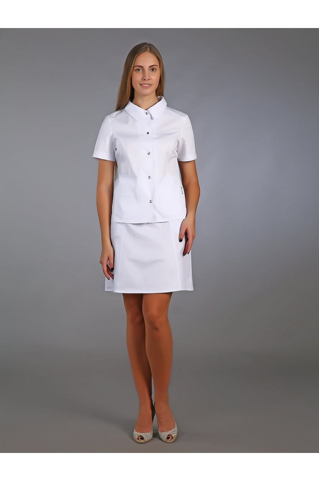 Жакет медицинский женский М-240 (белый, сатори)