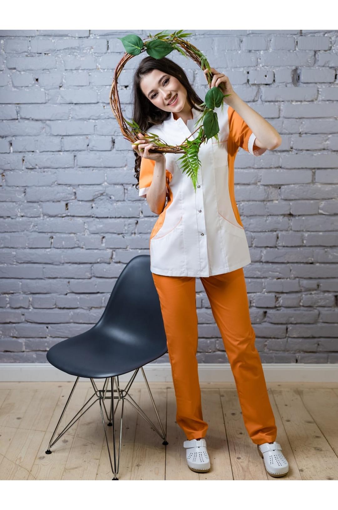 Блузка медицинская женская Панацея (персик, сатори)