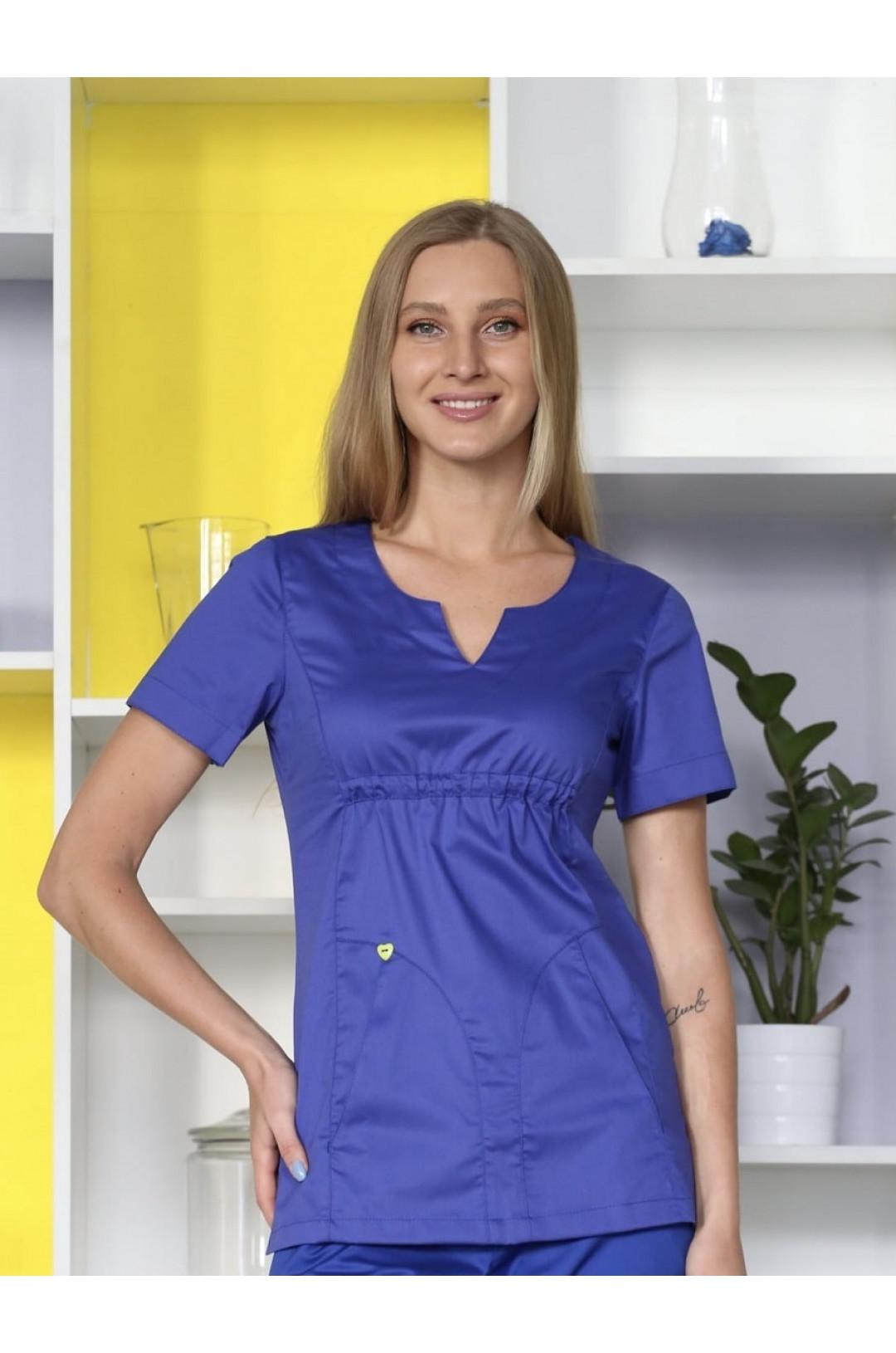 Блузка медицинская женская Колибри (василек, ADVA)