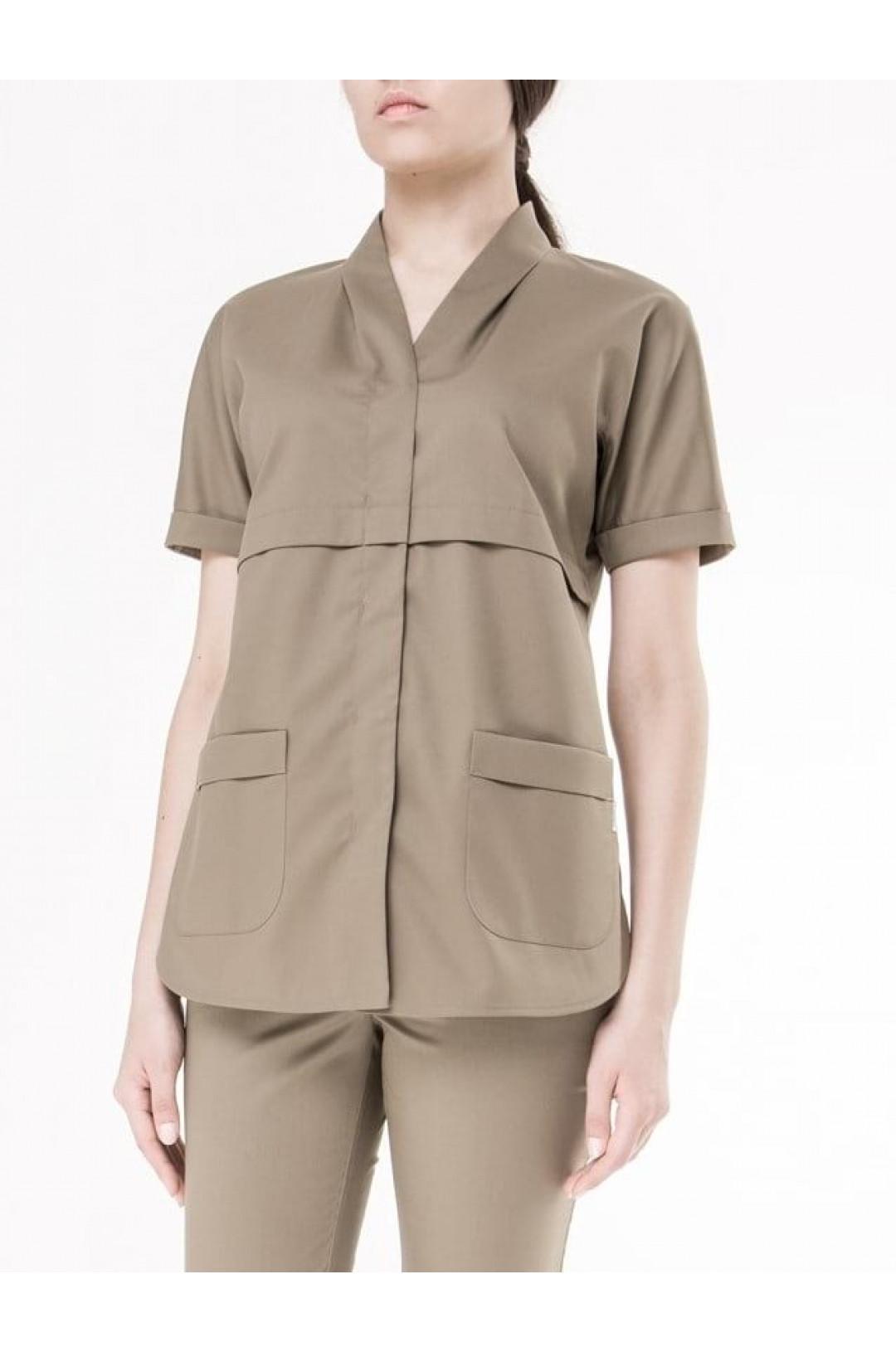Блузка медицинская женская 8-1014 (Fallen Rock (серый), экстрафлекс)
