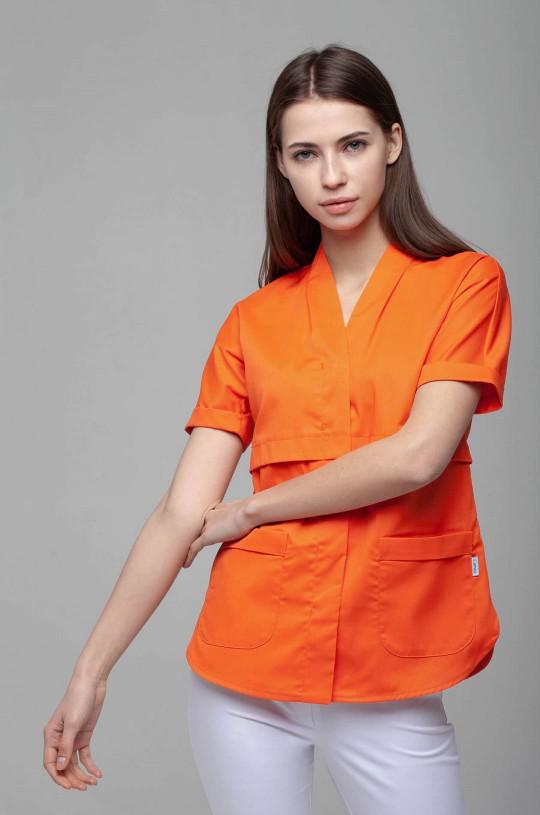 Блузка медицинская женская 8-1014 (Flame, экстрафлекс)
