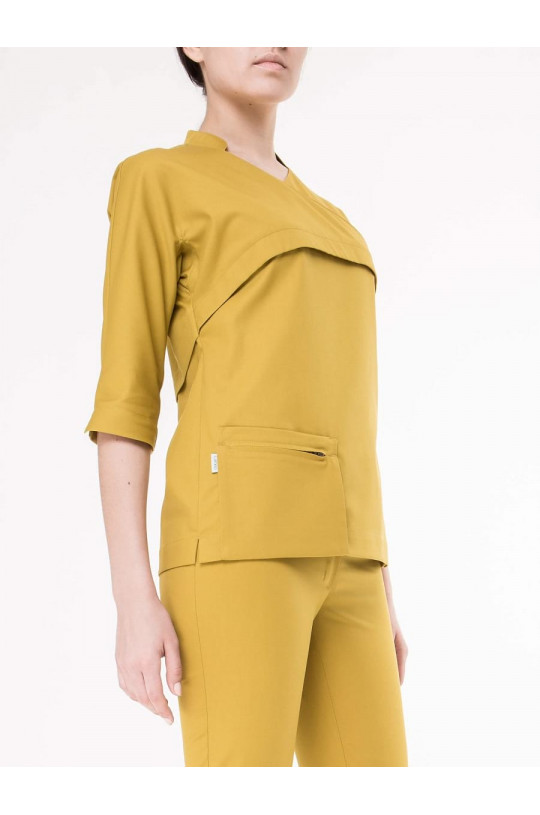 Блузка медицинская женская 8-1032 (оливки, экстрафлекс)