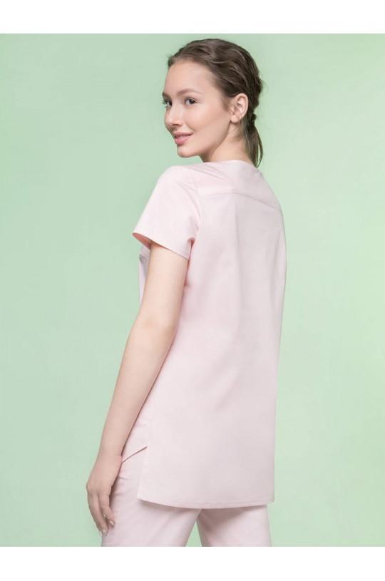 Блузка медицинская женская 8-1125 (розовый, экстрастрейч)
