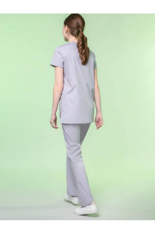 Блузка медицинская женская 8-1125 (серый, экстрастрейч)