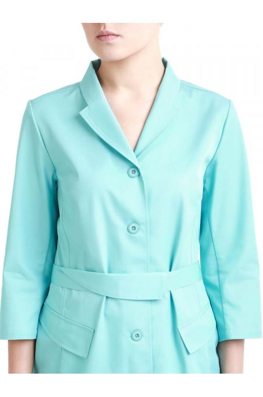 Блузка медицинская женская 8-1182 (бирюза Tibetan Stone, сатори ультра)
