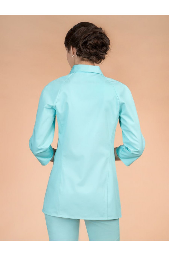 Блузка медицинская женская 8-1184 (бирюза Tibetan Stone, сатори ультра)