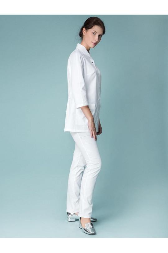 Блузка медицинская женская 8-1188 (белый, экстрафлекс)