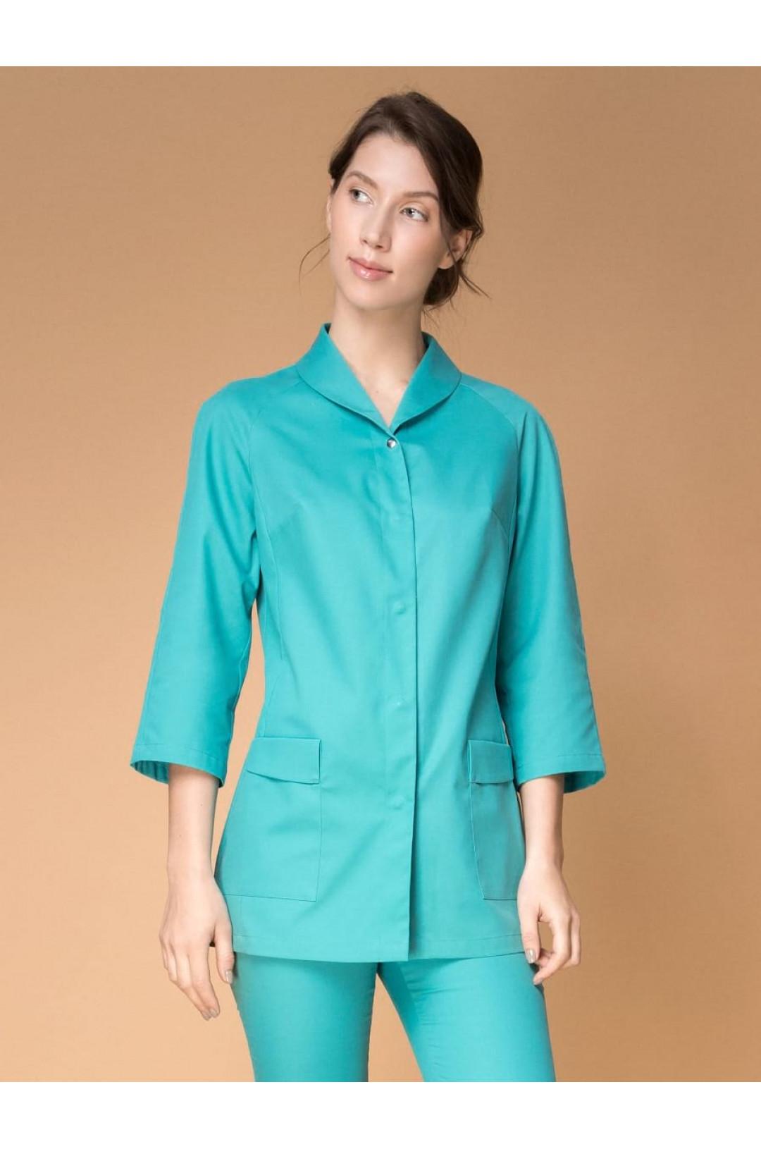 Блузка медицинская женская 8-1188 (бирюза, экстрафлекс)