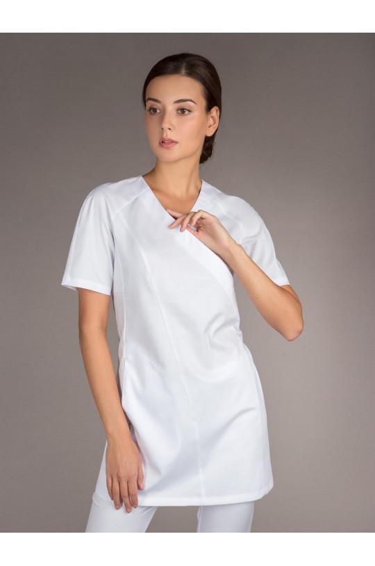 Блузка медицинская женская 8-1261 (белый, сатори)