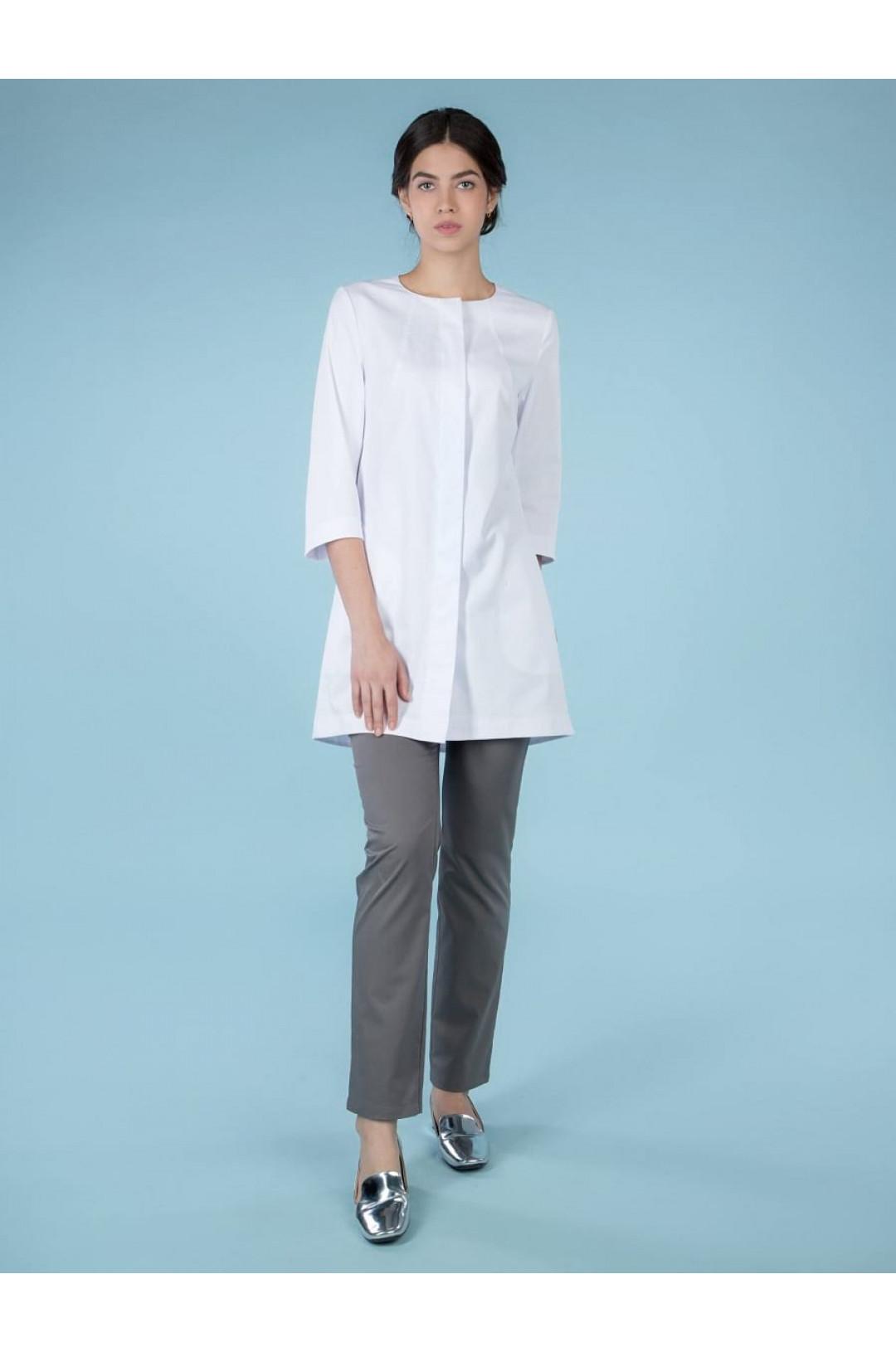 Блузка медицинская женская 8-996 (белый, сатори)