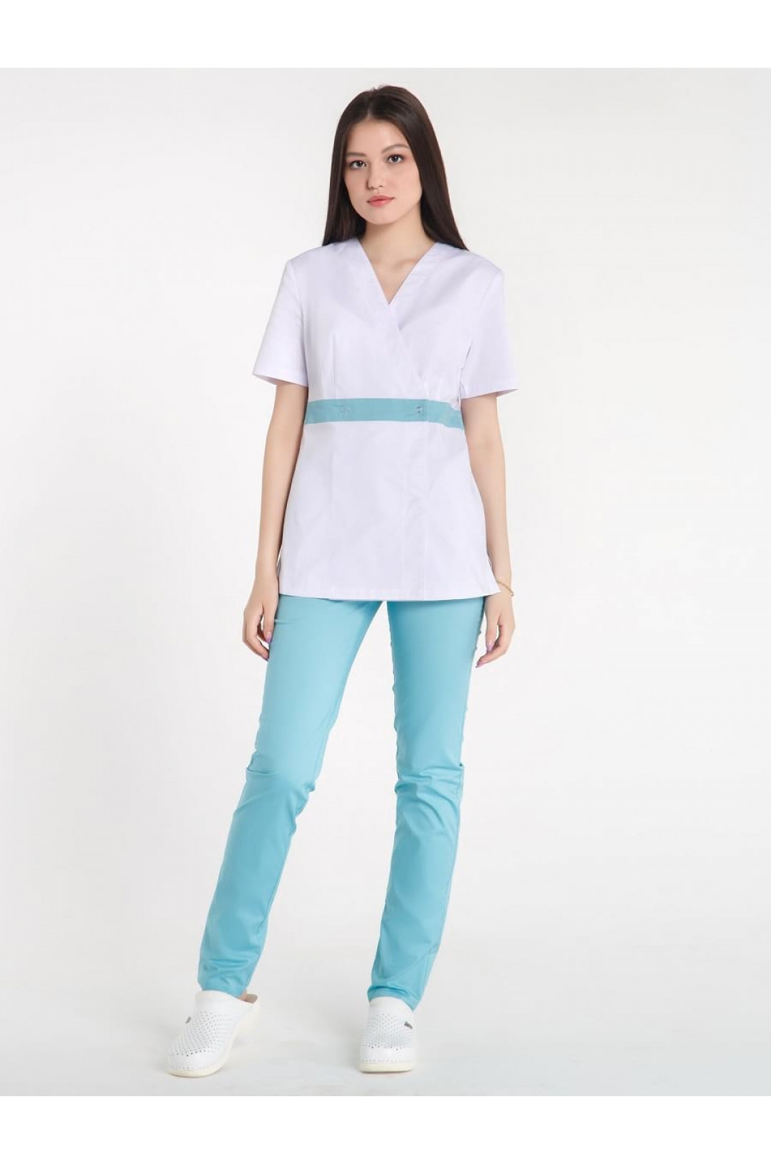 Куртка медицинская женская Z14-11415 (белый, твилл)