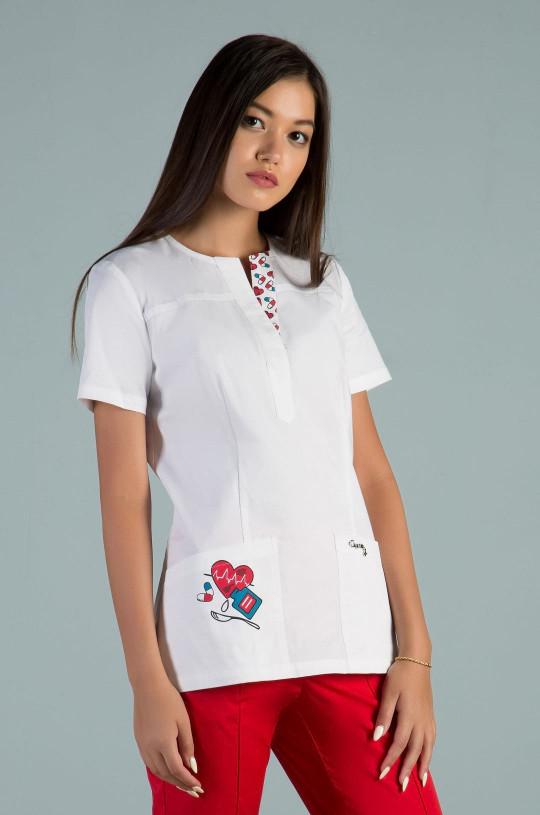 Куртка медицинская женская Z20-2030 (принт медицина, стрейч)