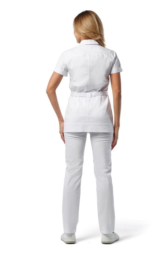 Куртка медицинская женская Н-025 (белый, стрейч)
