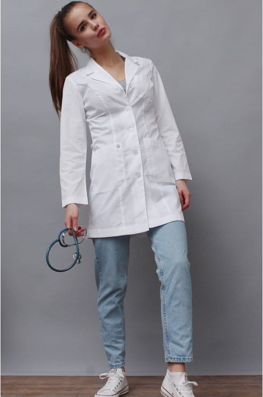 Халат медицинский женский Джульетта (белый, тиси)