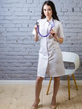 Халат медицинский женский Каприз (белый, сатори)