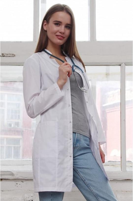 Халат медицинский женский Лянка (белый, тиси)