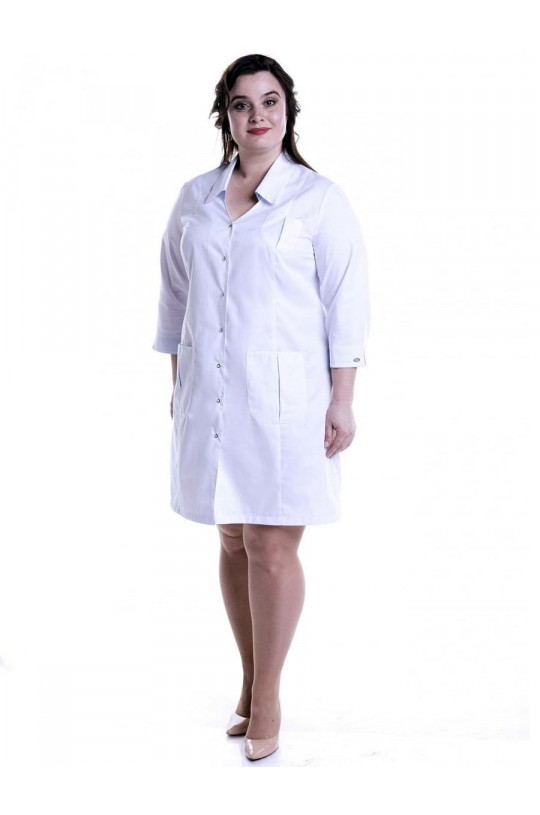 Халат медицинский женский Соната Плюс (белый, сатори)