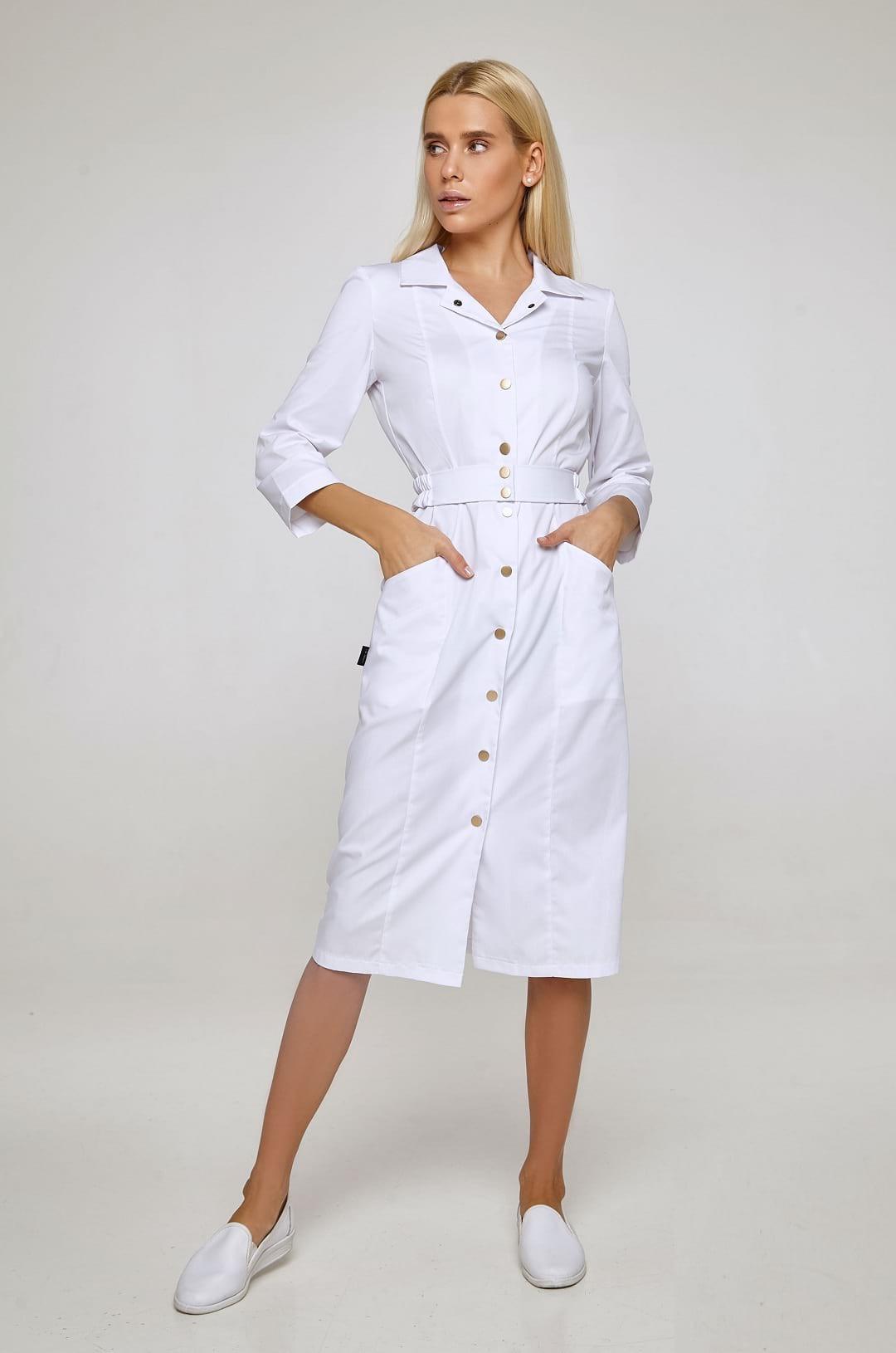 Халат медицинский женский Р-94 (белый, смесовая)