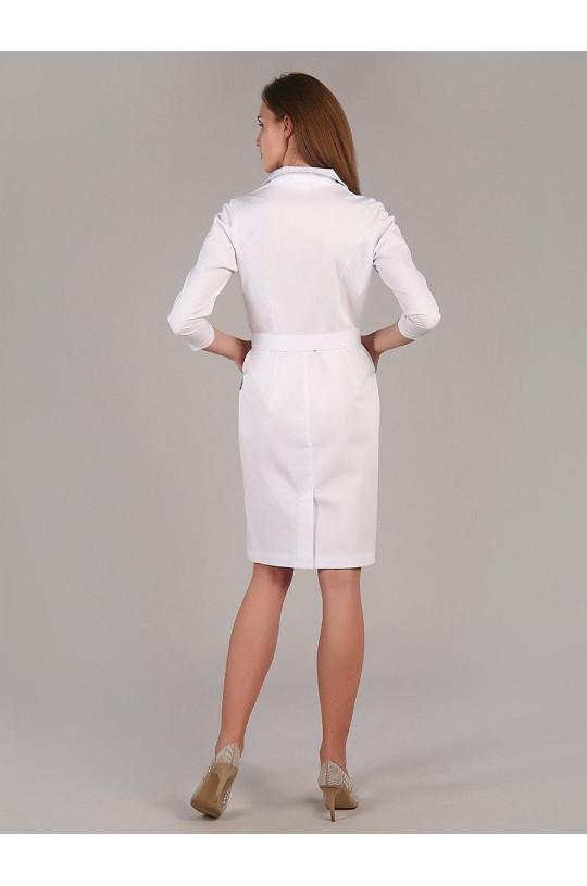Халат медицинский женский М-062 (белый, сатори)