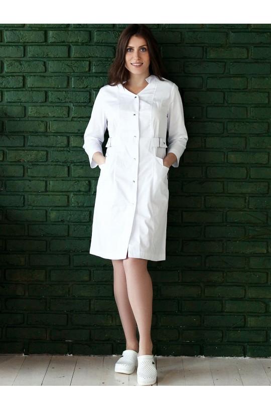 Халат медицинский женский М-064 (белый, элит-145)