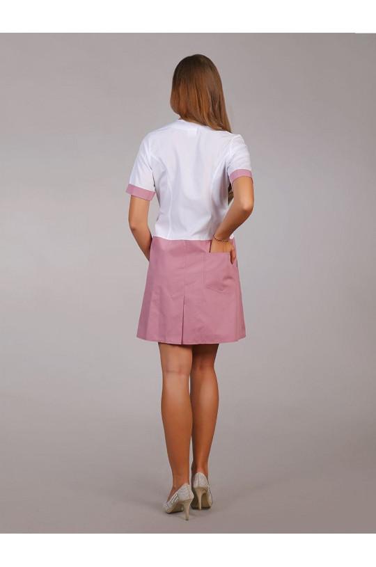 Платье медицинское женское М-500 (пудра, тиси)