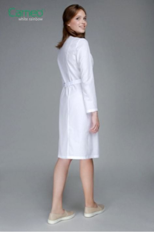 Халат медицинский женский 0003 (белый, тиси люкс)