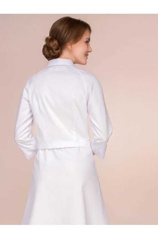 Халат медицинский женский 1-1070 (белый, сатори)