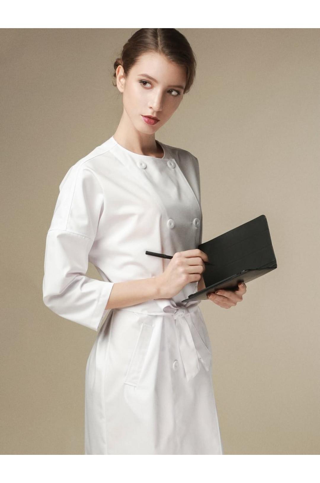 Халат медицинский женский 1-1103 (белый, сатори ультра)