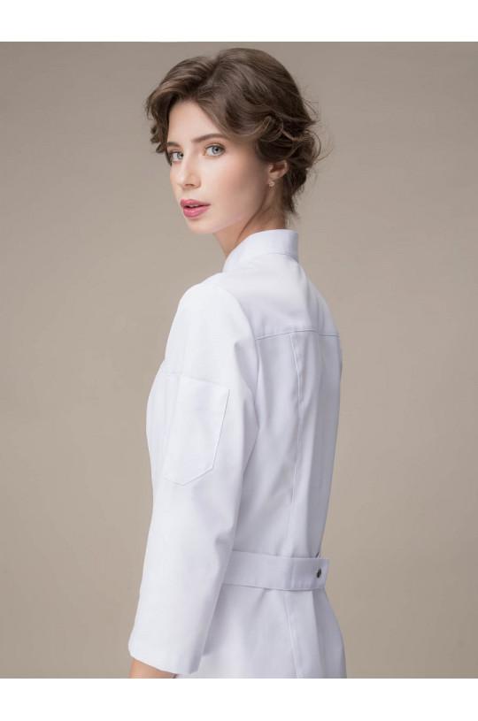Халат медицинский женский 1-874 (белый, сатори)