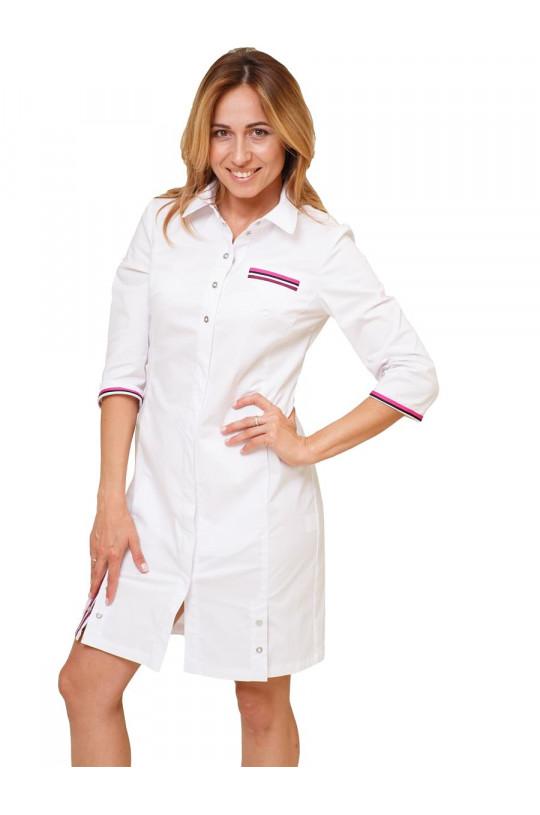 Халат медицинский женский Х 104 (белый, стрейч)