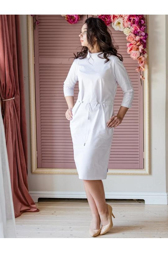 Платье медицинское женское 1018 (белый, айман195)