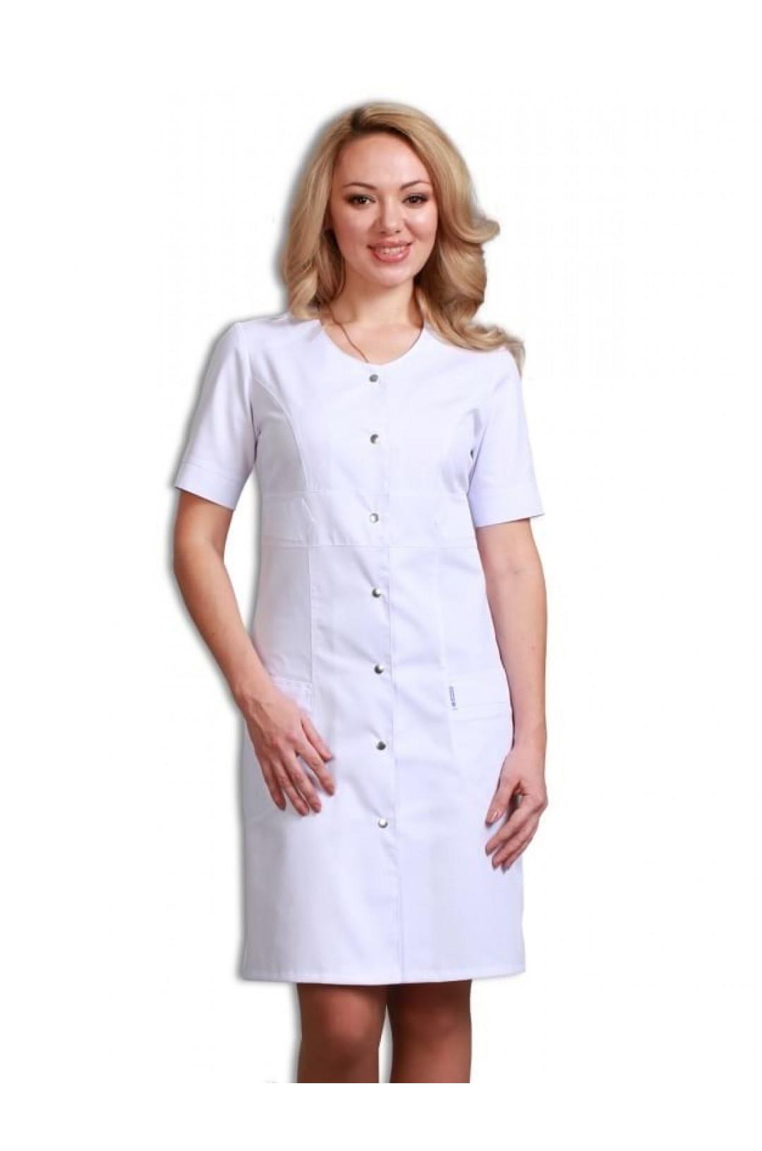 Халат медицинский женский 19 (белый, сатори)