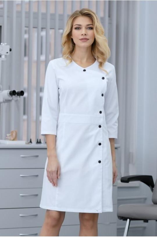 Халат медицинский женский 89 (белый, айман 195)