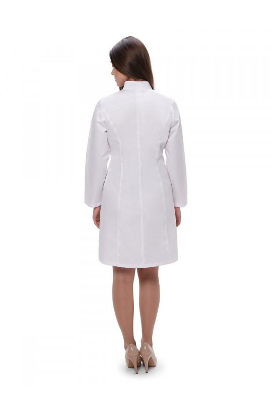 Халат медицинский женский 202 (белый, тиси)