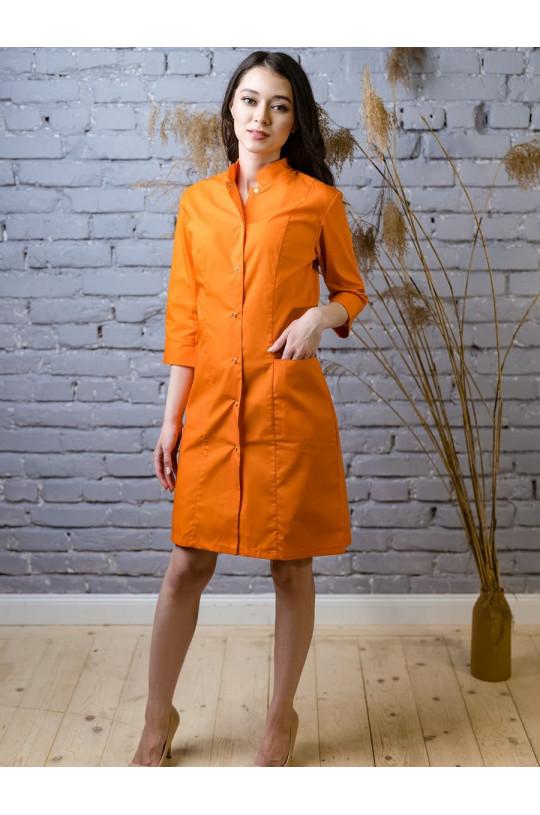 Халат медицинский женский 206 (оранж 69, тиси)