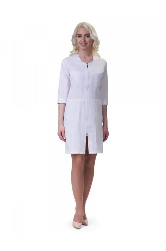 Халат медицинский женский 241 (белый, сатори)