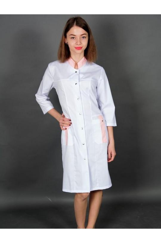 Халат медицинский женский 248 (белый, тиси)
