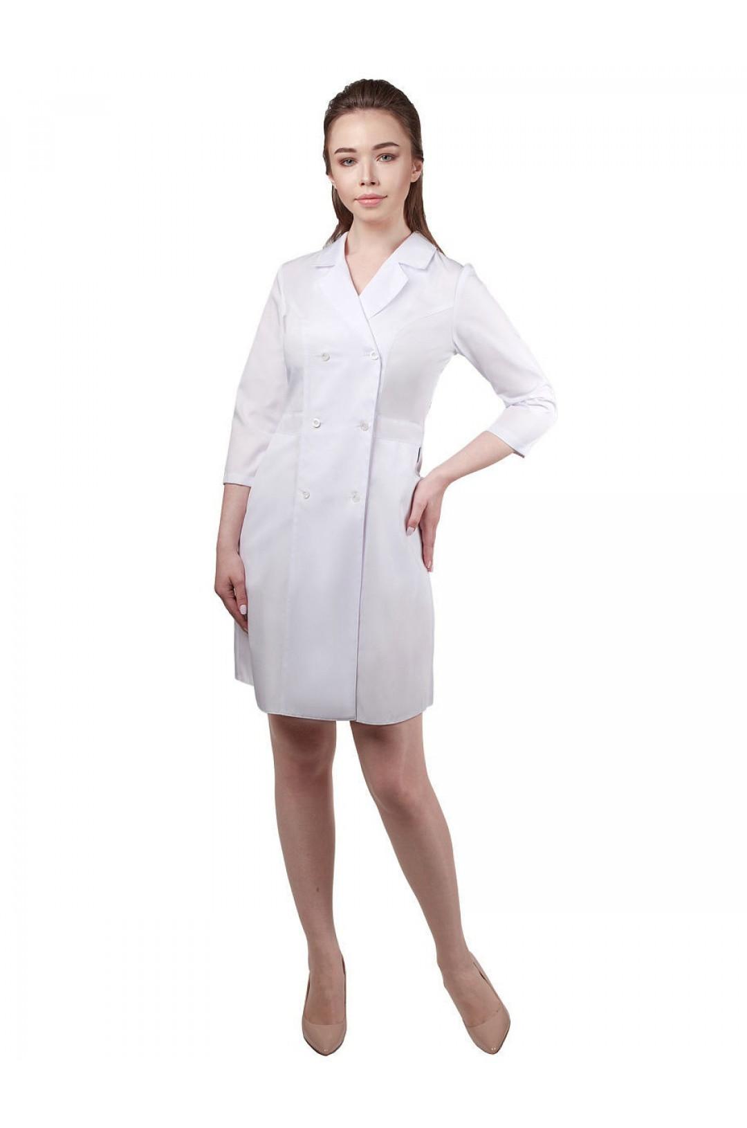 Халат медицинский женский 283 (белый, сатори)