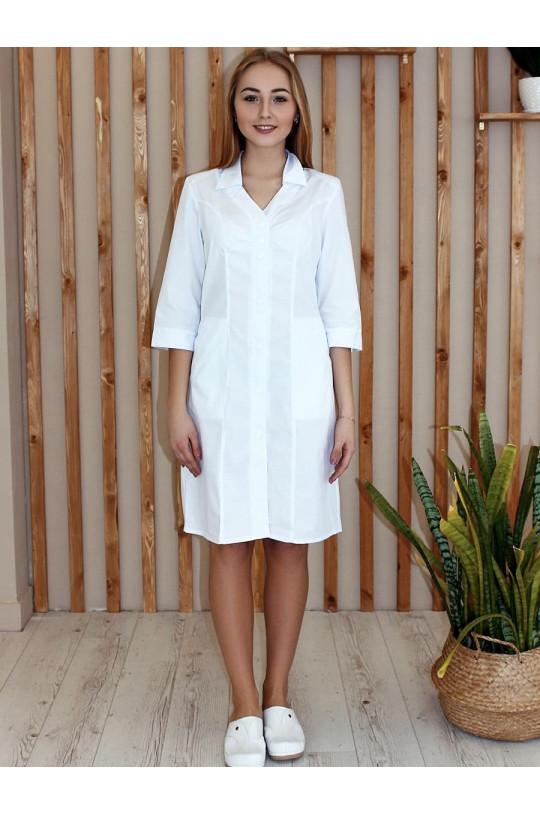 Халат медицинский женский 138 (белый, тиси)