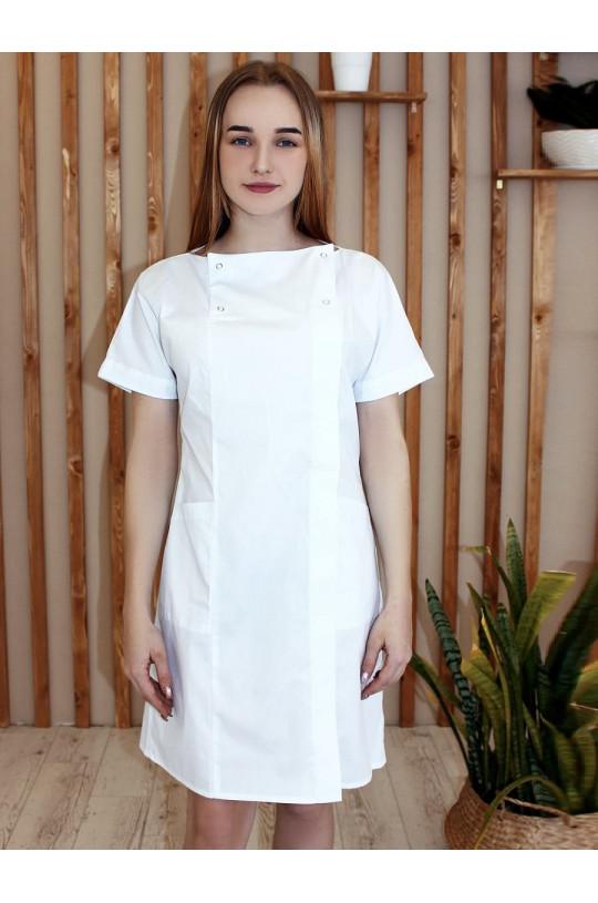 Халат медицинский женский 149 (белый, тиси)