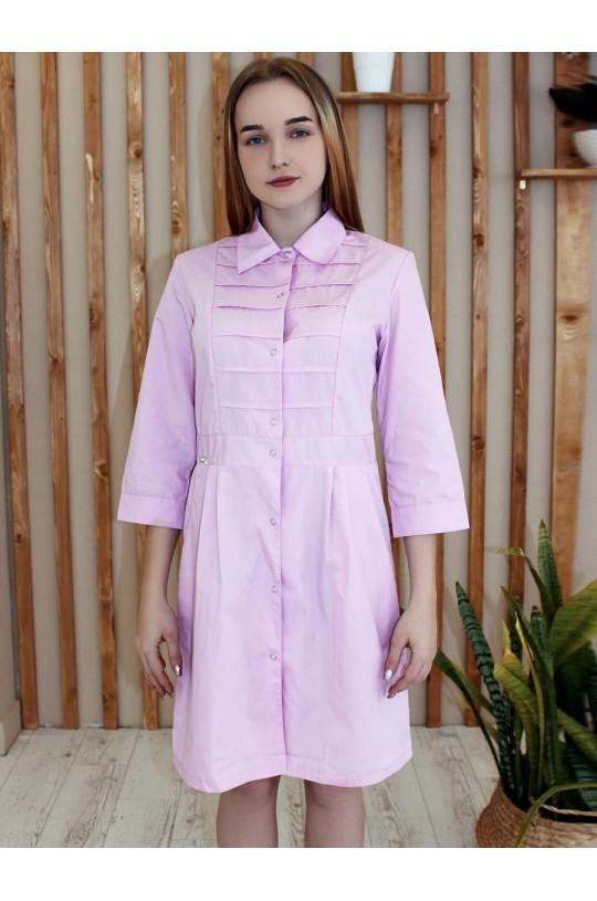 Халат медицинский женский 152С (розовый 142, сатори)