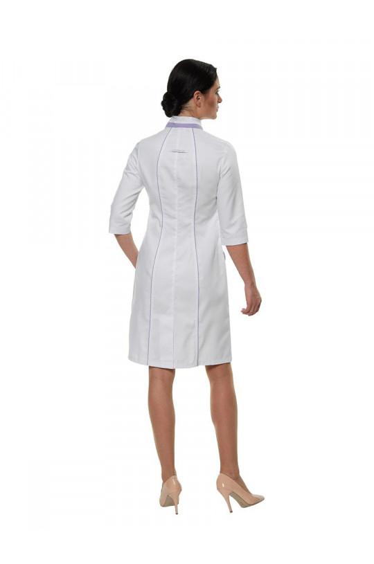 Халат медицинский женский LL 1103 (белый, тередо)