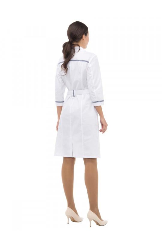 Халат медицинский женский LL 1114 Кэтрин (белый, сатори)