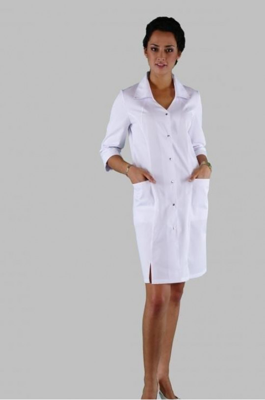 Халат медицинский женский Х-211 (белый, сатори)