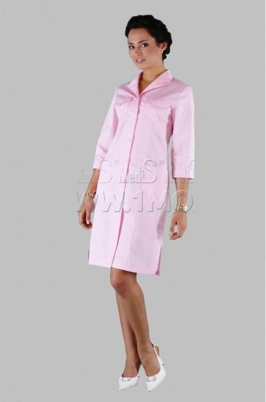 Халат медицинский женский Х-212 (розовый 137, сатори)