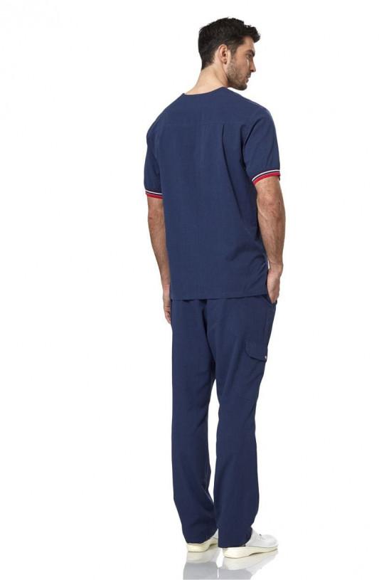 Блуза медицинская мужская LE 2201 (т.синий, тиси)