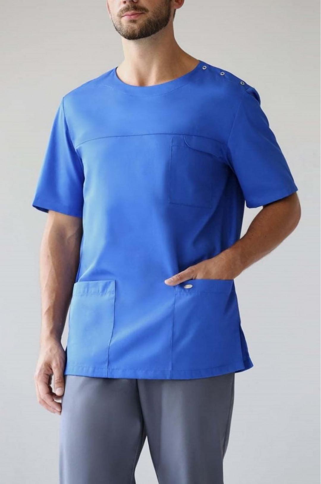 Блуза медицинская мужская Озон (василек, сатори)