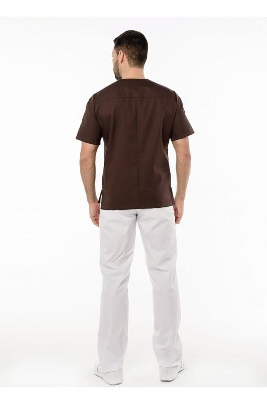 Блуза медицинская мужская Шоколад (шоколад, сатори)